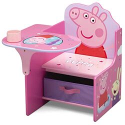 Delta Children Chair Desk with Storage Bin – Ideal for Arts & Crafts, Snack Time, Homeschooling, Homework & More, Peppa Pig (TC83690PG-1171)