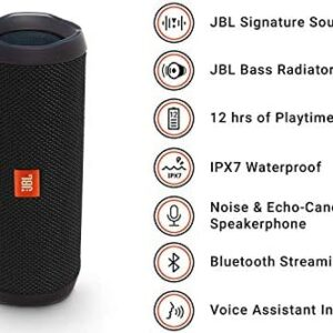 JBL FLIP 4 – Waterproof Portable Bluetooth Speaker – Black