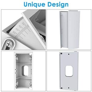 CAVN Adjustable (30 to 55 Degree) Angle Mount Compatible with Ring Video Doorbell/Video Doorbell 2, Angle Mount Replacement Adjustment Adapter Mounting Plate Bracket Wedge Corner Kit (White)