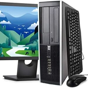 (Renewed) HP Elite Desktop Computer Package – Windows 10 Professional, Intel Quad Core i5 3.2GHz, 8GB RAM, 500GB HDD, 22 inches LCD Monitor, Keyboard, Mouse, WiFi
