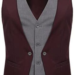 Coofandy Men's Formal Layered Slim Fit Suit Vest Premium Business Waistcoat