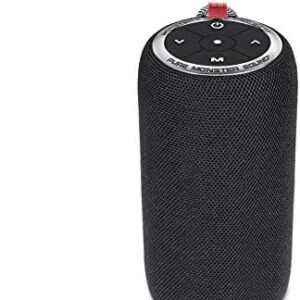 Bluetooth Speakers, Monster S310 Portable Bluetooth Speakers with TWS Pairing Deliver Rich Bass,Dynamic Stereo Sound, Built-in Mic for Clear Call,Wireless Speaker for Home or Outdoor Use, Black