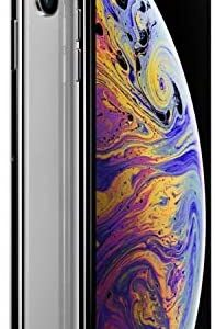 Apple iPhone XS Max, 64GB, Silver – Fully Unlocked (Renewed)