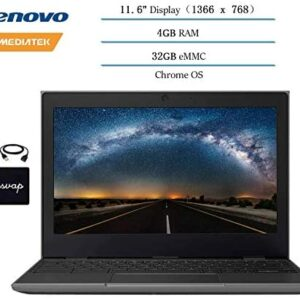 2020 Lenovo Chromebook 2ND Gen 11.6″ Laptop Computer for Business and Student, 11.6″ HD (1366 X 768) Display, 4GB RAM, 32GB eMMC, Chrome OS w/ HESVAP Accessories (MediaTek MT8173C)