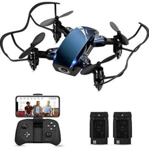 Foldable RC Mini Drone with Camera for Kids, HALOFUNO WiFi FPV Quadcopter with HD Camera for Beginner Indoor, 3D Flip, Altitude Hold Mode, One Key Take Off/Landing, APP Control