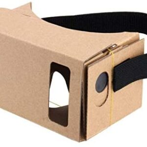 Google Cardboard,Virtual Real Store 3D VR Headsets DIY Virtual Reality Box Glasses with Clear Optical Lens and Comfortable Head Strap for All 4-6 Inch Smartphones(Starter DIY, 1 Pack)