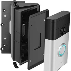 Adjustable Waterproof Campatible Doorbell Angle Mount,30 to 55 Degree Replacement Angle Bracker Plate Wedge Kit for Ring Wi-Fi Enabled Video Doorbell 1st 2nd