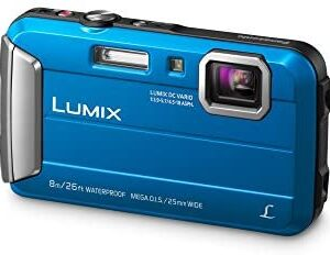 PANASONIC LUMIX Waterproof Digital Camera Underwater Camcorder with Optical Image Stabilizer, Time Lapse, Torch Light and 220MB Built-In Memory – DMC-TS30A (Blue)