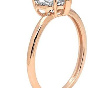 Clara Pucci 2.10 ct Brilliant Heart Cut CZ Designer Solitaire Ring in Solid 14k Rose Gold