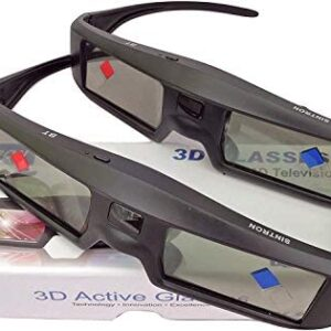 2X 3D Active Shutter Glasses Rechargeable – Sintron ST07-BT for RF 3D TV, 3D Glasses for Sony, Panasonic, Samsung 3D TV, Epson 3D projector, Compatible with TDG-BT500A TDG-BT400A TY-ER3D5MA TY-ER3D4MA