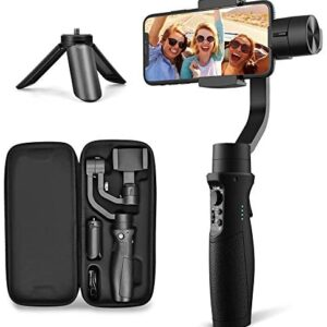 3-Axis Gimbal Stabilizer for iPhone X XR XS Smartphone Vlog Youtuber Live Video Record with Sport Inception Mode Face Object Tracking Motion Time-Lapse – Hohem Isteady Mobile Plus (Upgraded New)