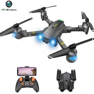 Drone with Camera – RC Drones for Beginners, WiFi FPV Drone w/ 720P HD Camera/Voice & APP Control/Trajectory Flight/Altitude Hold/Gravity Sensor, VR Game, Drone with Camera for Adults & Kids