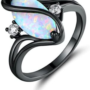 Barzel Rose Gold & White Gold Plated Created Ruby, White Fire Opal & Cubic Zirconia Accents Ring