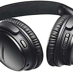 Bose QuietComfort 35 II Wireless Bluetooth Headphones, Noise-Cancelling, with Alexa voice control – Black