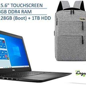 2020 Dell 15 3000 15.6 Inch HD Touchscreen Premium Laptop, 10th Gen Intel Core i3-1005G1 (Beats i5-7200U), 8GB DDR4, 128GB SSD (Boot) + 1TB HDD, Windows 10 S + Legendary Computer Backback & Mouse Pad