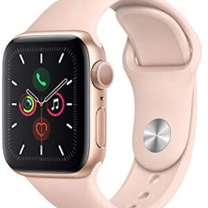 Apple Watch Series 5 (GPS, 40mm) – Gold Aluminum Case with Pink Sport Band