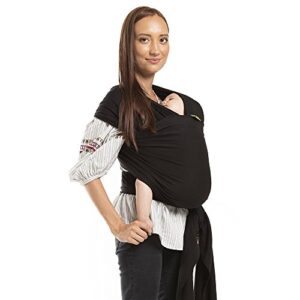 Boba Wrap Baby Carrier, Black – Original Stretchy Infant Sling, Perfect for Newborn Babies and Children up to 35 lbs