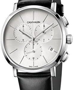 Calvin Klein Mens Chronograph Quartz Watch with Leather Strap K8Q371C6