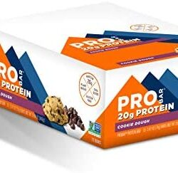 PROBAR – Base Protein Bar, Cookie Dough, Non-GMO, Gluten-Free, Certified Organic, Healthy, Plant-Based Whole Food Ingredients, Natural Energy (12 Count)
