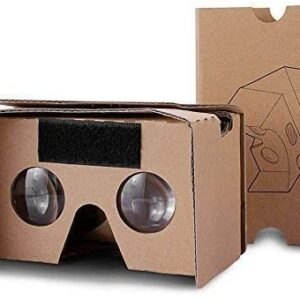 Google Cardboard,VR Headsets 3D Box Virtual Reality Glasses with Big Clear 3D Optical Lens and Comfortable Head Strap for All 3-6 Inch Smartphones