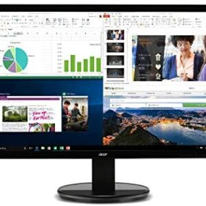 Acer K202HQL Abi 19.5″ HD Monitor (HDMI & VGA port), Black, 19.5 Inch