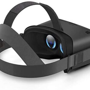 DESTEK 2020 Updated V5 VR Headset for Phones w/ 5.5-6.8 Screen, HD Virtual Reality Headset w/Bluetooth Controller for iPhone 11/X/Xs/Max/XR/8P/7P, for Samsung S10/S9/S8/Plus/Note 10/9/8
