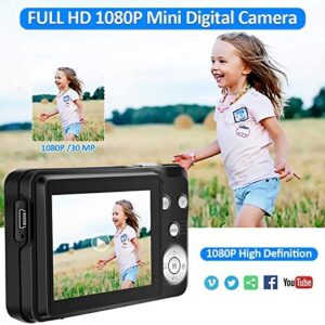 Digital Camera HD 1080P Vlogging Camera 30 MP Mini Camera 2.7 Inch LCD Screen Camera with 8X Digital Zoom Compact Cameras for Adult, Kids, Beginners (DC5) (DC5)