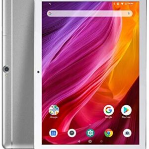Dragon Touch K10 Tablet, 10 inch Android Tablet with 16 GB Quad Core Processor, 1280×800 IPS HD Display, Micro HDMI, GPS, FM, 5G WiFi (Silver)