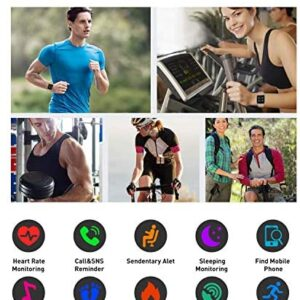 Fitness Tracker Watch with Heart Rate and Sleep Monitor – Activity Tracker Waterproof Smart Wristband Watch, Step Calorie Counter, Pedometer Android iOS Compatible for Women Men Kids