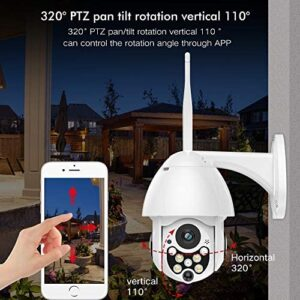 SDETER Outdoor PTZ WiFi Security Camera, 1080P Pan Tilt Zoom 4.1X Surveillance CCTV IP Weatherproof Camera with Two Way Audio Night Vision Motion Detection