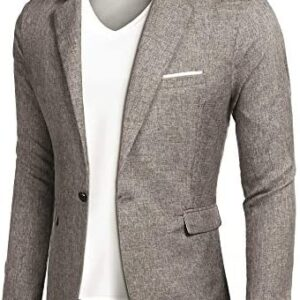 COOFANDY Men's Casual Suit Blazer Jackets Lightweight Sports Coats One Button