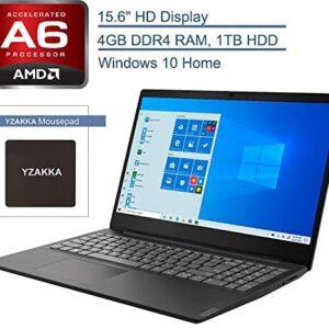 2020 Lenovo IdeaPad S145 15.6″ Laptop Computer, AMD Core A6-9225 up to 3.0GHz, 4GB DDR4 RAM, 1TB HDD, 802.11AC WiFi, Bluetooth 4.2, USB 3.1, HDMI, Black, Windows 10 Home in S Mode, YZAKKA MousePad