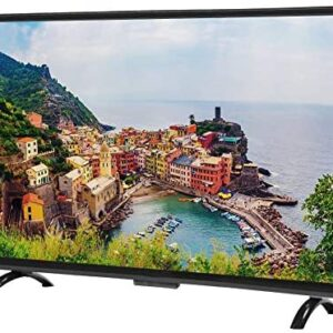 EBTOOLS 43inch HD Curved TV, 1920×1200 HD 3000R Curvature Smart TV Support Wired and Wireless Network Connection(US-Plug)