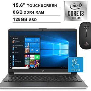 2020 HP Pavilion 15.6 Inch Touchscreen Laptop (Intel 2-Core i3-1005G1 (Beats i5-7200U), 8GB DDR4 RAM, 128GB SSD, WiFi, Bluetooth, Webcam, Windows 10 Home) + NexiGo Wireless Mouse Bundle