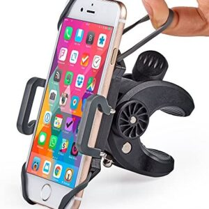 Bike & Motorcycle Phone Mount – For iPhone 11 (Xs, Xr, X, 8, Plus/Max), Samsung Galaxy S20 or any Cell Phone – Universal Handlebar Holder for ATV, Bicycle or Motorbike. +100 to Safeness & Comfort