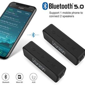 Bluetooth Speakers – Vanzon X5 Pro Portable Wireless Speaker V5.0 with 20W Loud Stereo Sound TWS, IPX7 Waterproof & 24H Playtime, Perfect for Travel, Home and Outdoors