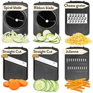 Fullstar Mandoline Slicer Spiralizer Vegetable Slicer – Veggie Slicer 5-in-1  Mandoline Food Slicer with Julienne Grater – V Slicer Mandoline Cutter – Vegetable Cutter Zoodle Maker
