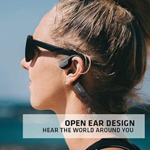 AfterShokz Aeropex Open-Ear Wireless Bone Conduction Headphones with Sport Belt, Cosmic Black, 2.3