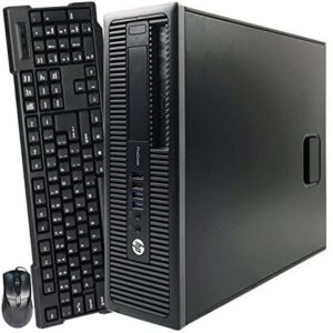 (Renewed) HP ProDesk 600 G1 SFF Slim Business Desktop Computer, Intel i5-4570 up to 3.60 GHz, 8GB RAM, 500GB HDD, DVD, USB 3.0, Windows 10 Pro 64 Bit  (8GB RAM | 500GB HDD)