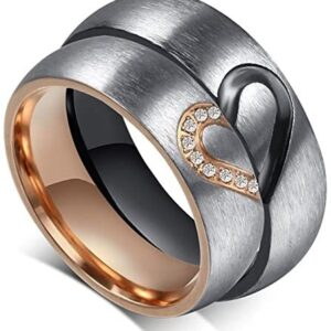 Aegean Jewelry Titanium Couple Fashion Wedding Band Ring We are a Perfect Match Love Style with a Gift Box and a Free Small Gift