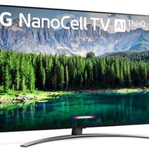 LG 55SM8600PUA Nano 8 Series 55″ 4K Ultra HD Smart LED NanoCell TV (2019), Black