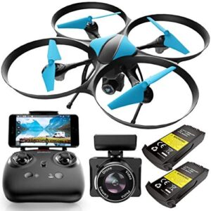 Force1 Drones with Camera for Adults – U49WF – FPV Drone 720P HD Live Video RC Drone, 360 Flips and Easy to Fly Quadcopter, Compatible with VR Headset