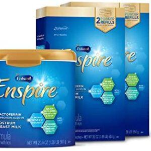 Enfamil Enspire Baby Formula Milk Powder & Refills, 102.5 Ounce, Omega 3 DHA, Probiotics, Immune Support Pack of 4