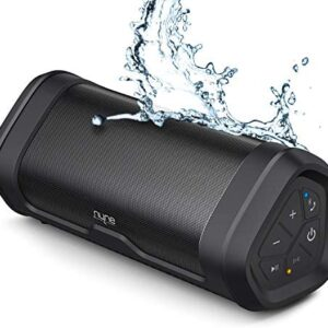NYNE Boost Portable Waterproof Bluetooth Speakers with Premium Stereo Sound – IP67, 20 Hours Play-time, 100 ft Range, Built-in Power Bank and Mic, True Wireless Stereo, Loud Wireless Speaker