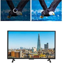 43Inch Smart TV, Large Curved Screen 3000R Curvature 4K HDR HD TV Network Version 1920×1200 Ultra-Narrow Border TV, Support Wired and Wireless(110V US)