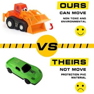 Construction Vehicles Fun Pull Back Car Toy for Boys Toddler Bulldozer Excavator Dumper Truck for Children Toddlers Mini Engineering Toys Party Favor Fillers Decorations 9 Packs – Color Random