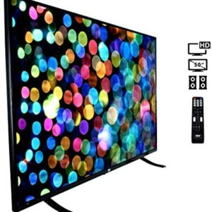 """50"""" 1080p HDTV LED Television – Hi Res Widescreen Monitor Ultra HD TV with HDMI, RCA Input, Audio Streaming, Headphones, Stereo Speaker, Mounts on Wall, Works w/Mac PC, Includes Remote Control – Pyle"""