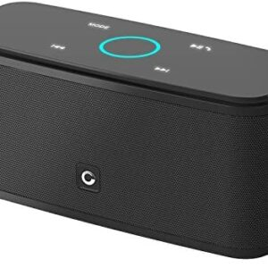 Bluetooth Speakers, DOSS SoundBox Touch Wireless Bluetooth V4.0 Portable Speaker with HD Sound and Bass, 12H Playtime, Built-in Mic, Portable Wireless Bluetooth Speaker for Home, Outdoor, Travel-Black