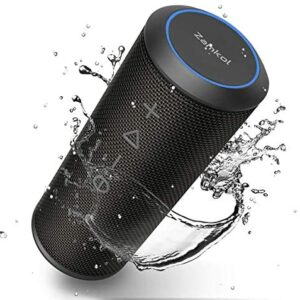 Bluetooth Speaker, Zamkol Bluetooth Speakers Portable Wireless, 360 Degree Sound, 24W Enhanced X-Bass, 8H Playtime, Built-in Mic Dual Pairing Loud Wireless Speaker, IPX6 Waterproof for Beach, Party