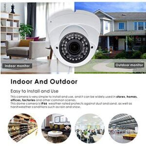 5MP 4MP Dome Super Hybrid Security Camera 1080P HD-TVI/CVI/AHD/960H CCTV Surveillance Security Camera 2.8-12mm Varifocal Lens Outdoor/Indoor 98ft IR Waterproof Day&Night Vision Inwerang Array Dome Cam